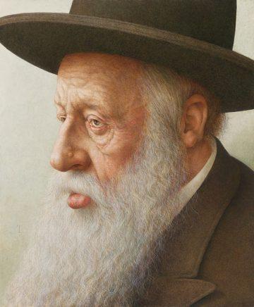 Michael Triegel, Alter Mann in Jerusalem, 2020, Eitempera auf MDF, 47,1 x 39,3 cm