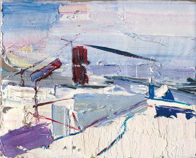 Gero Künzel, Landschaft I_2, 2007, Öl auf Leinwand, 24 x 30 cm