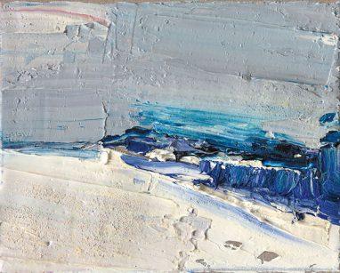 Gero Künzel, Landschaft I_3, 2007, Öl auf Leinwand, 24 x 30 cm