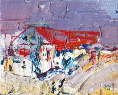 Gero Künzel, Landschaft I_5, 2007, Öl auf Leinwand, 24 x 30 cm
