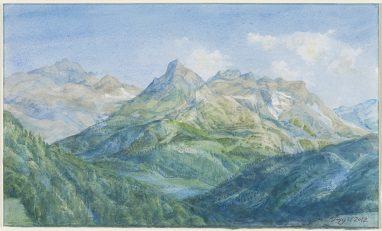 Michael Triegel, Im Binntal (Wallis), 2012, Aquarell, 18,8 x 31,8 cm