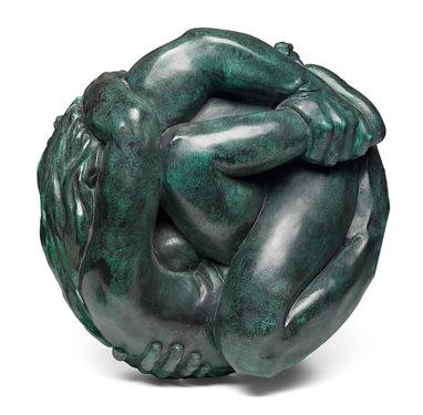 Joscha Bender, Pair, 2018, Bronze, 40 x 40 x 37 cm, Aufl.: 6