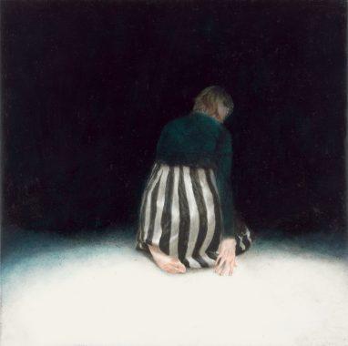 Emma Parc, o. T. (32), 2016, Öl auf Aludibond, 15 x 15 cm