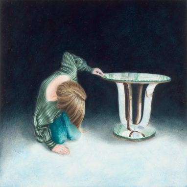 Emma Parc, o.T. (33), 2016, Öl auf Aludibond, 15 x 15 cm