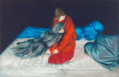 Emma Parc, o.T. (34), 2016, Öl auf Aludibond, 11 x 17 cm