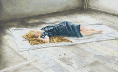 Emma Parc, o.T. (9), 2013, Öl auf Aludibond, 19,5 x 27,1 cm