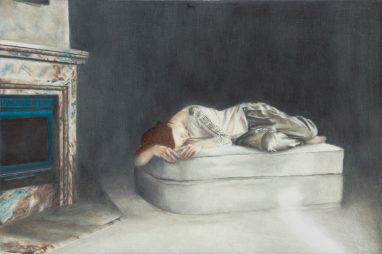 Emma Parc, o.T. (21), 2014, Öl auf Aludibond, 10 x 15 cm