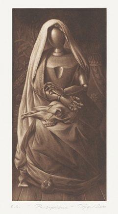 Persephone, 2010, Mezzotinto, 29,5 x 14,5 cm