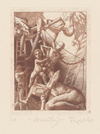 Verwandlung, 2011, Strichätzung, Reservage, Aquatinta, Mezzotinto, 19,5 x 14,5 cm