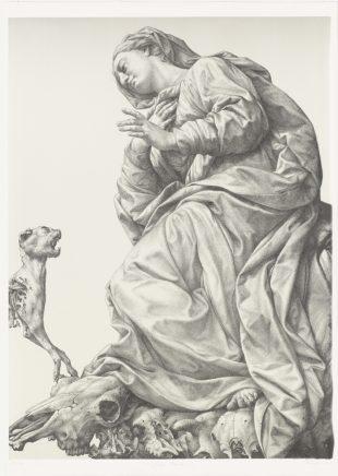 Michael Triegel, Ave Maria, 2016, Zinklithografie auf Zerkall-Bütten, 99 x 72,8 cm