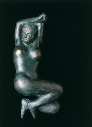 Liegender Akt, 1972, Bronze (Voll-Relief), L 48, B 21, H 14 cm, Auflage 7