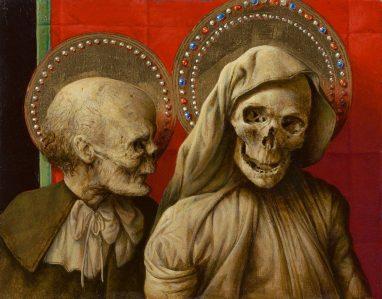 Michael Triegel, Sacra Conversazione, 2015, Mischtechnik auf Maltafel, 14,5 x 18,3 cm