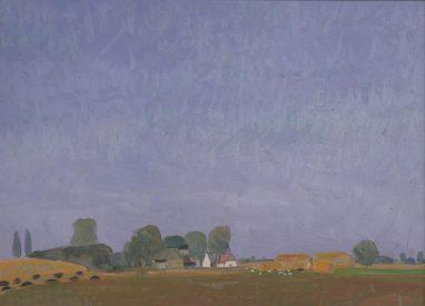 Ungarn Reise, 1959, Öl auf Malpappe, 25,5 x 35,5 cm