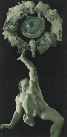 Auferstehung, 2017, Acryl auf Bütten, 95 x 47 cm