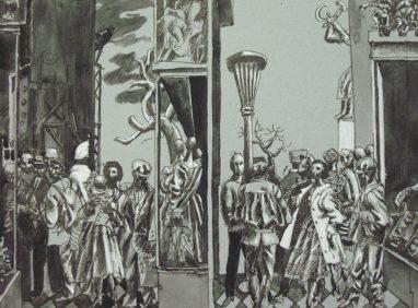 """Studie zu den Wandbildern """"Die Fünf Kontinente"""" im Leipziger Hotel"""