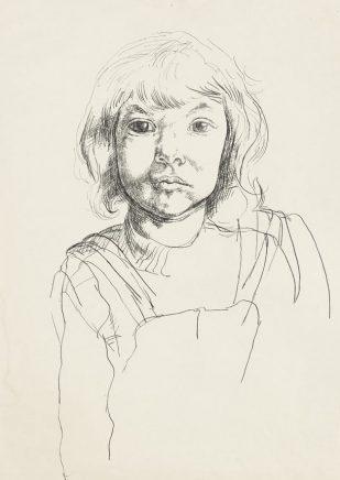 Arno Rink, Marie, 1985 Tusche auf Papier, 59,1 x 42 cm
