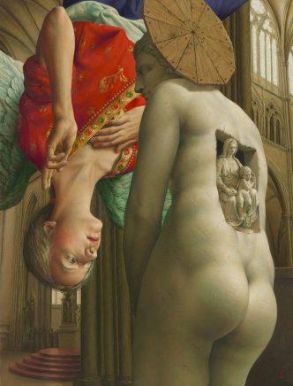 Michael Triegel, Renaissance, 2015, Mischtechnik auf Maltafel, 70,5 x 54 cm