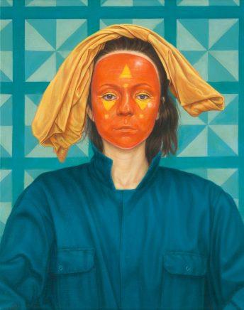 Leif Borges, Maskerade, 2016, Acryl und Öl auf Leinwand, 50 x 40 cm