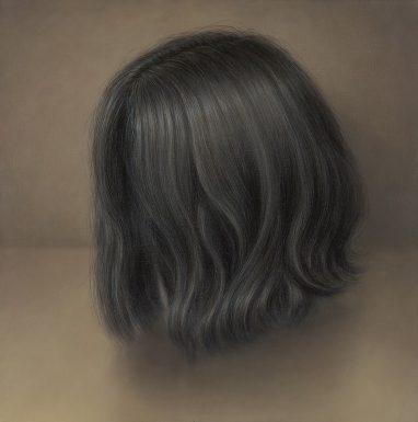 Leif Borges, Hair, 2018, Acryl und Öl auf Leinwand, 40 x 40 cm
