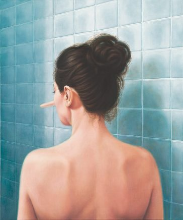 Leif Borges, Kitchen, 2018, Acryl und Öl auf Leinwand, 60 x 50 cm