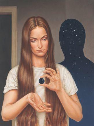 Leif Borges, One, 2018, Acryl und Öl auf Leinwand, 80 x 60 cm