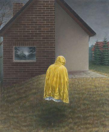 Leif Borges, Unsichtbarer Freund, 2017, Acryl und Öl auf Leinwand, 60 x 50 cm