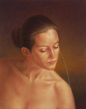 Leif Borges, Heulsuse, 2019, Acryl und Öl auf Leinwand, 50 x 40 cm