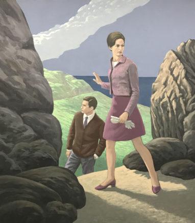 Christian Brandl, Die Insel, 2019, Öl auf Leinwand, 135 x 120 cm