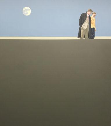 Christian Brandl, Vollmond, 2019, Acryl und, Öl auf Leinwand, 135 x 120 cm