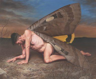 Leif Borges, Daredevil, 2019, Acryl und Öl auf Leinwand, 116 x 140 cm