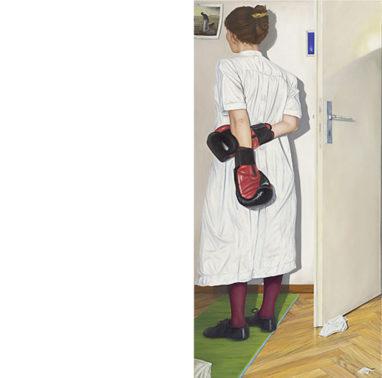 Sven Hoppler, Der Morgen danach (Triptychon), 2020, Öl und Acryl auf Leinwand, 80 x 160 cm