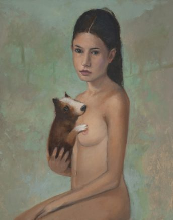 Johannes Hüppi, o.T., 2020, Öl auf Holz, 37,5 x 30 cm