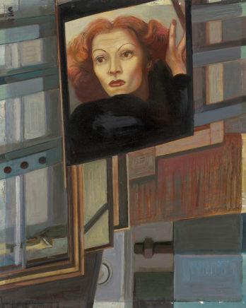 Ulrich Hachulla, Stilleben mit Marlene, 1989, Öl auf Hartfaser, 62,5 x 50 cm